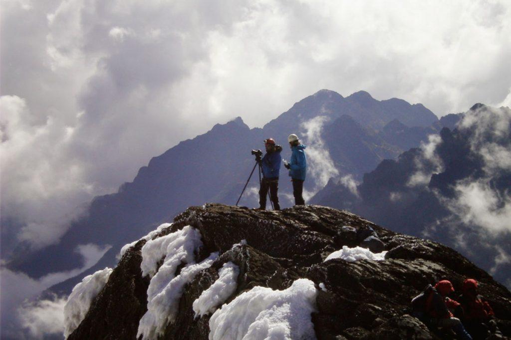 on top of mountain rwenzori